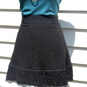 Ann Taylor LOFT Eyelet Lace A-Line Scalloped Skirt